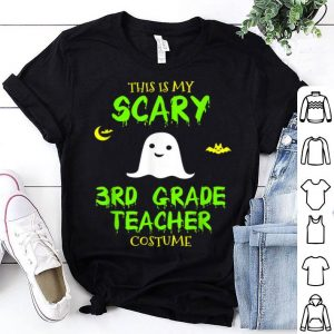 Awesome Scary Third 3rd Grade Teacher Costume Halloween shirt