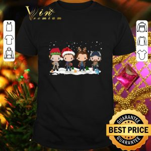 Awesome Supernatural chibi characters cartoon Christmas shirt