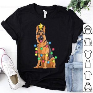 Beautiful German Shepard Reindeer Christmas Star Lights Gift shirt