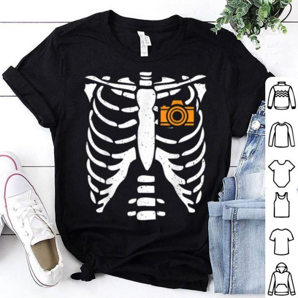 Beautiful Photographer Halloween Costume Skeleton Bone Rib Gift shirt
