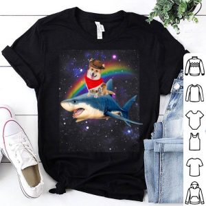 Beautiful Pirate day and Halloween-Space Pirate Corgi Riding Shark shirt