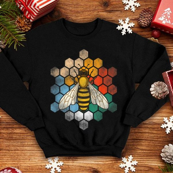 Beautiful Retro Vintage Honey Hives And Bee Gift For Bee Lover shirt