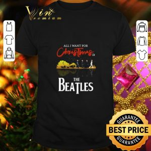 Cool All i want for Christmas is The Beatles guitar lake shirt
