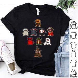Funny Pug Halloween Costume Ninja Witch Dracula Boo Mummy Pirate shirt