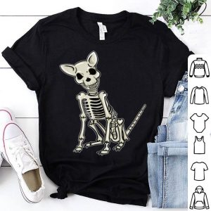 Funny Spooky Cute Skeleton Dog Lover Gift shirt