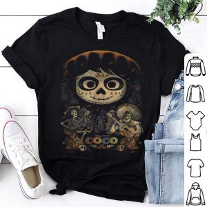 Hot Disney Pixar Coco Miguel & Musical Scene Graphic shirt