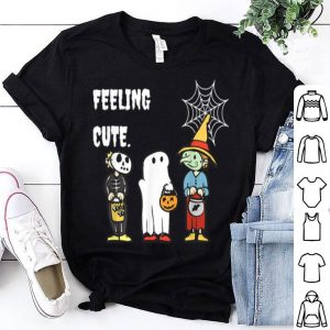 Hot Feeling Cute Halloween Featuring a Pumpkin and Ghost shirt