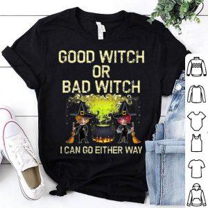 Nice Good or Bad Witch Cute Womens Halloween shirt
