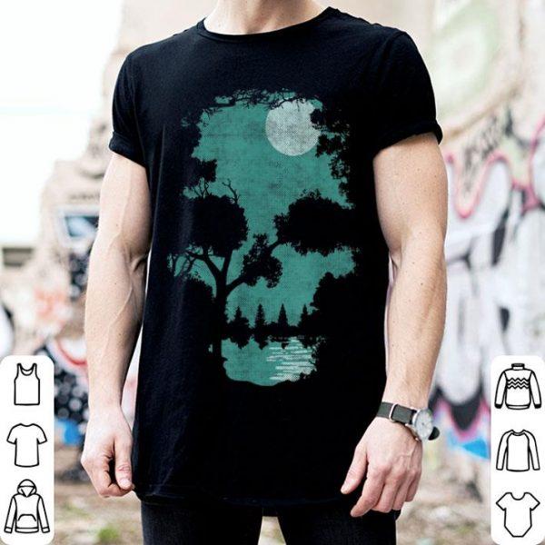 Nice Halloween Wilderness Skull illusion shirt
