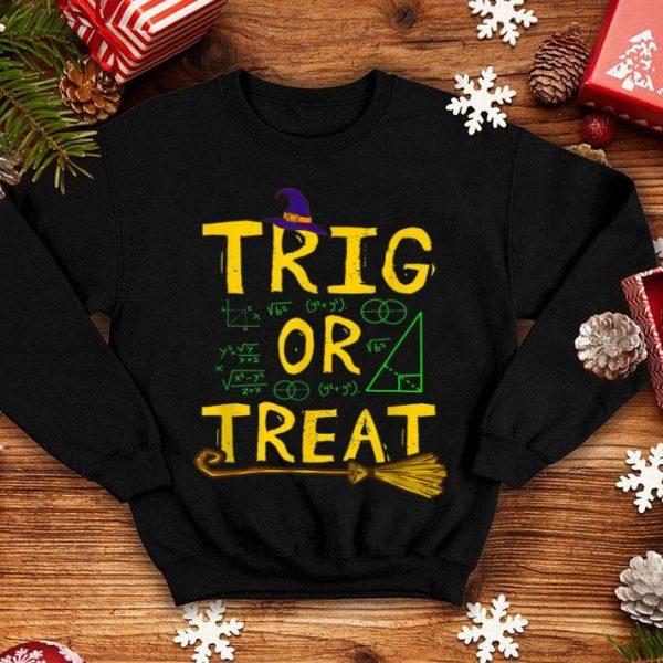 Official Halloween Math Teacher Trig Or Treat Student School College shirt