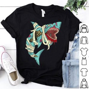 Official Shark Zombie Halloween Jawsome Zombies For Mens Boys shirt
