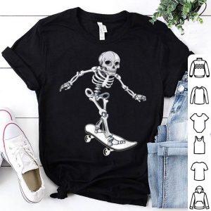 Official Skeleton Skateboarding Skateboarder Halloween shirt