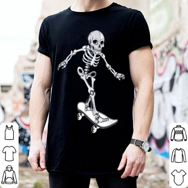 Official Skeleton Skateboarding Skateboarder Halloween shirt