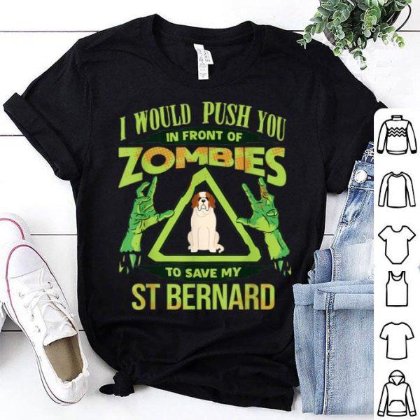 Official St Bernard Dog Lover Funny Zombie shirt