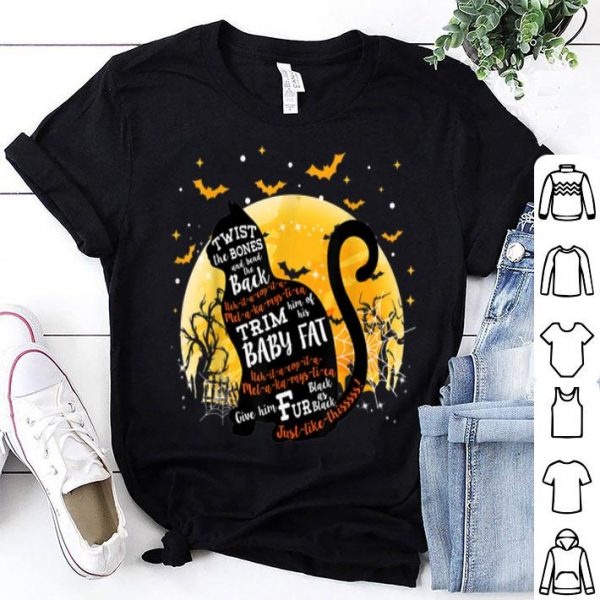 Official Twist The Bones And Bend The Back Cat Halloween shirt
