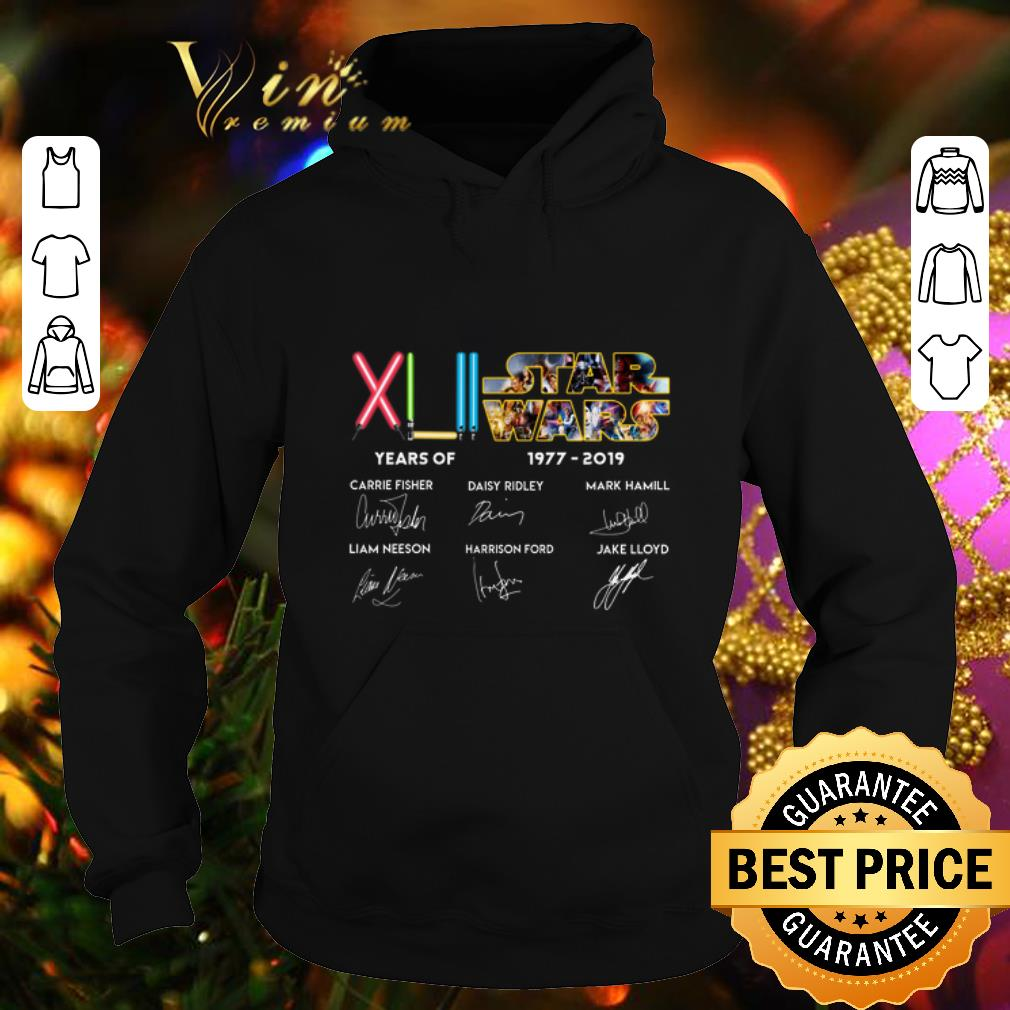 Official XLII 42 years of Star Wars 1977 2019 signatures shirt 4 - Official XLII 42 years of Star Wars 1977-2019 signatures shirt