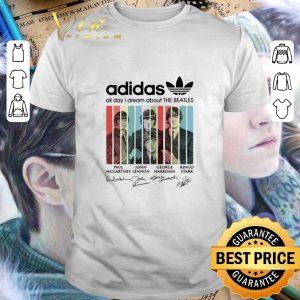 Original Adidas all day I dream about The Beatles signatures shirt