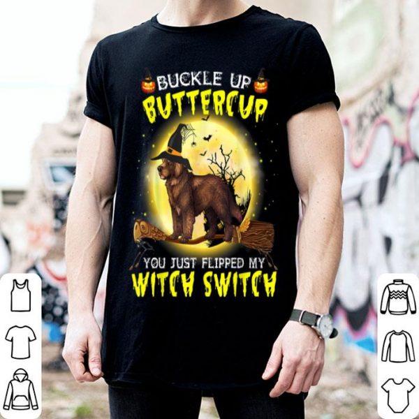 Original Buckle Up Buttercup Newfoundland Dog Halloween shirt
