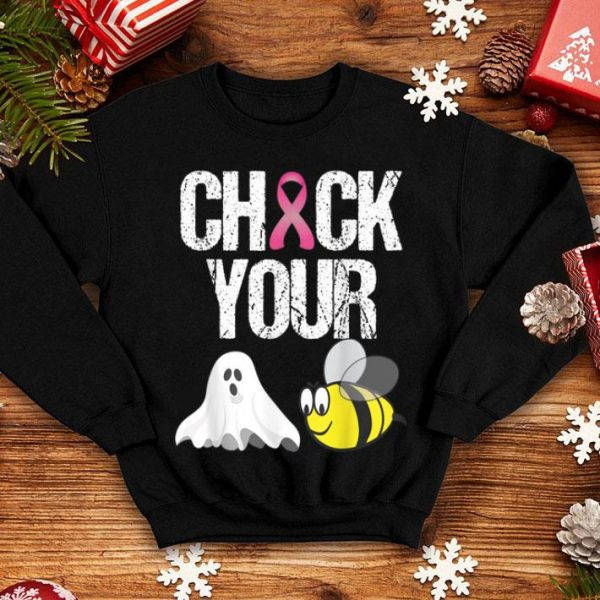 Original Check Your Boo Bees Funny Breast Cancer Halloween Gift shirt