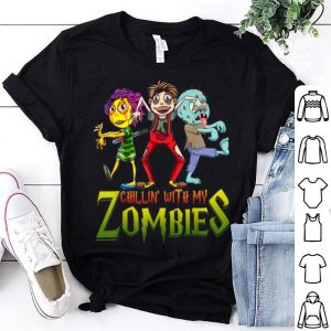 Original Chillin With My Zombies Halloween Costume Funny Gift Boys shirt