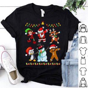 Original Christmas for Kids Boys Dabbing Santa Elves Xmas Gift shirt
