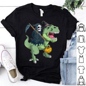 Original Grim Reaper and T-Rex Halloween shirt