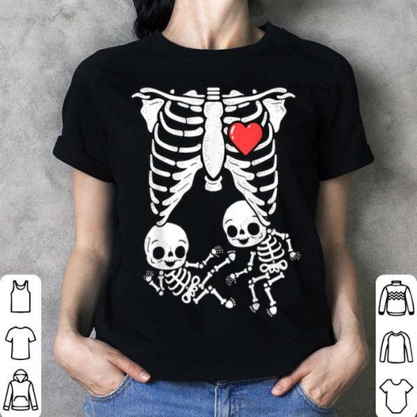 Original Skeleton Pregnancy Announcement Boy Twins XRay New Mom shirt