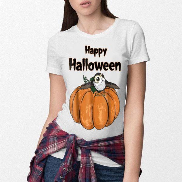 Original Star Wars Porg On A Pumpkin Halloween Graphic shirt
