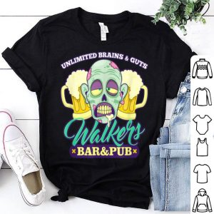 Original Walkers Bar And Pub Funny Zombie Halloween shirt