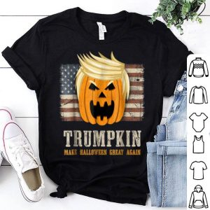 Premium Halloween Trumpkin Vintage US Flag Funny Trump shirt