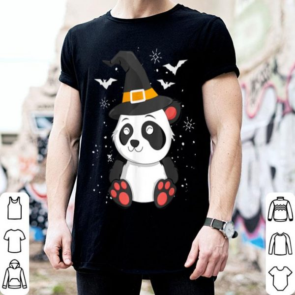 Premium Panda Witch Halloween Bear China Animal Outfit Costume Kids shirt