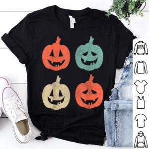 Premium Vintage Pumpkins - Retro Funny Scary Lazy Halloween Costume shirt