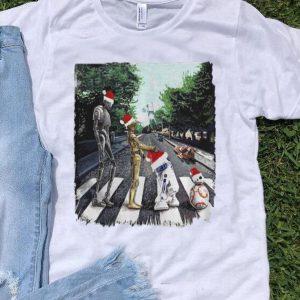 Santa Star Wars Characters Walking Road Abbey Road shirt