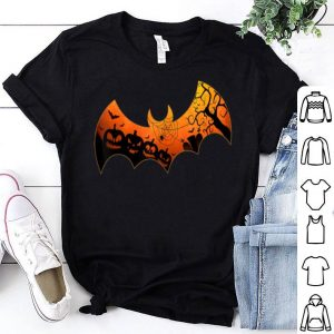 Top Halloween Bat Spooky Trick or Treat Bat Lover Pumpkin shirt