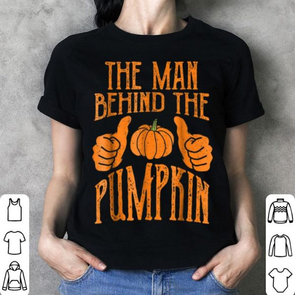 Top Halloween Funny Dad His Guy Man Behind The Pumpkin shirt