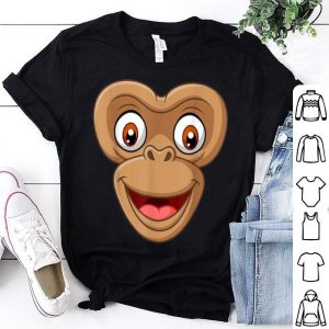 Top Halloween Monkey Face DIY Easy Costume Kids Boys Men Youth shirt