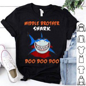 Top Halloween Shark Doo Doo Dracula Middle Brother Shark shirt