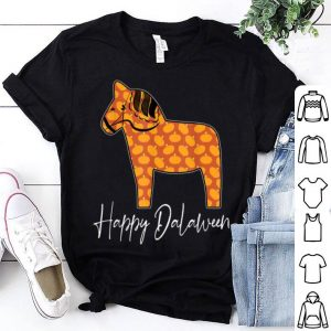Top Happy Dalaween Funny Swedish Dala Horse Halloween Pumpkin shirt