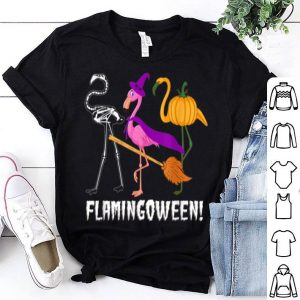 Top Happy Halloween Flamingoween Funny Flamingo shirt