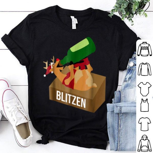 Awesome Blitzen Drunk Christmas Funny Reindeer Drinking sweater