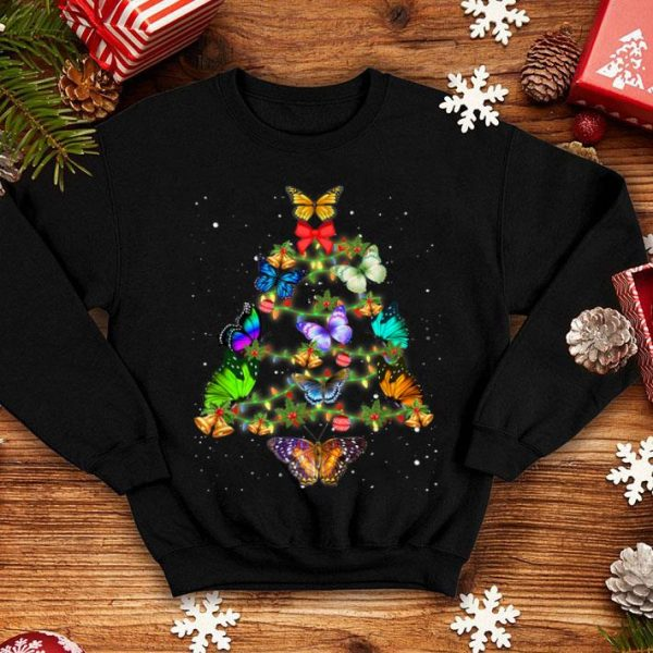 Awesome Butterflies Christmas Tree Xmas Light Decoration shirt