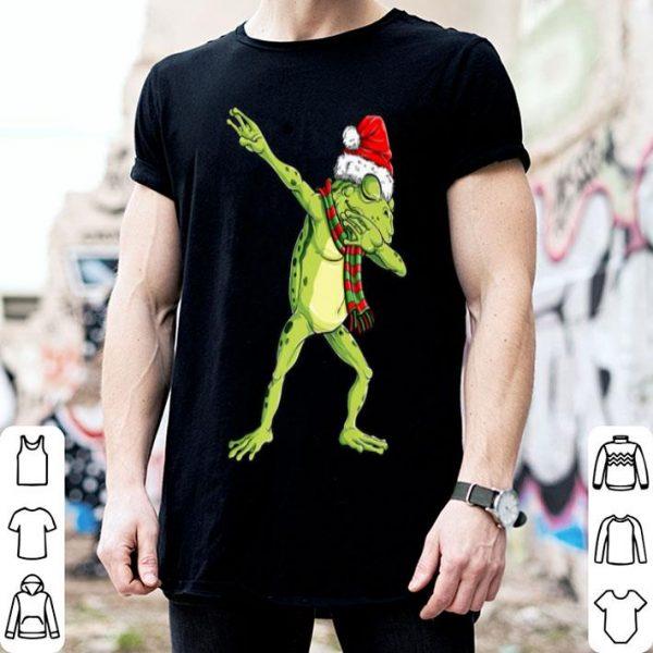 Awesome Christmas for Kids Boys Girls Dabbing Frog Santa Gift shirt