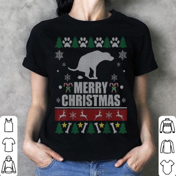 Awesome Dog Pooping Funny Ugly For Christmas shirt