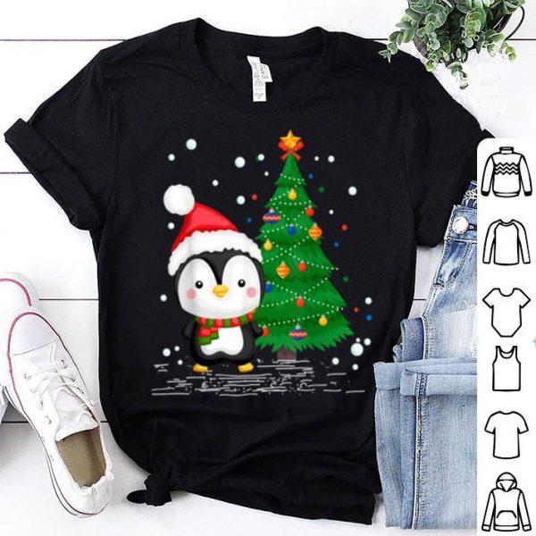 Awesome Funny Penguin Lover Gift Santa Hat Penguin Christmas shirt