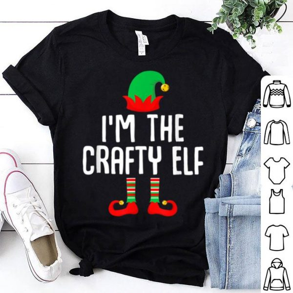 Awesome I'm The Crafty Elf Matching Family Group Christmas sweater
