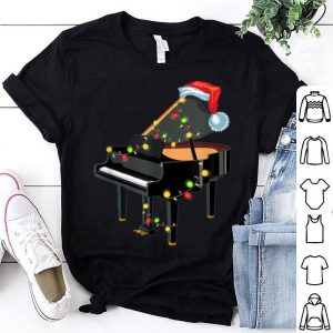 Awesome Piano Instrument Santa Hat Christmas Lights Xmas Gifts shirt