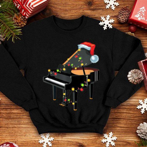 Awesome Piano Instrument Santa Hat Christmas Lights Xmas Gifts shirt