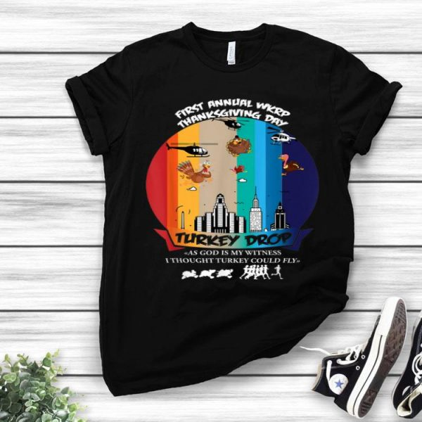 Awesome Wkrp-Turkey-Drop Thanksgiving Gift shirt