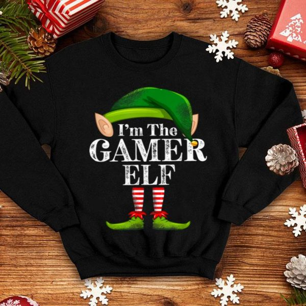 Beautiful I'm The Gamer Elf Matching Family Christmas Funny Costume sweater