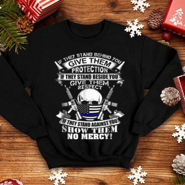 Beautiful Law Enforcement Thin Blue Line Flag Police Christmas shirt